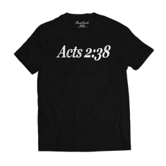 Acts 2:38 Tee Retro - Black & White
