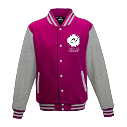 Members Only Chosen Vessels Varsity Signature Jacket (Pink & Gray)