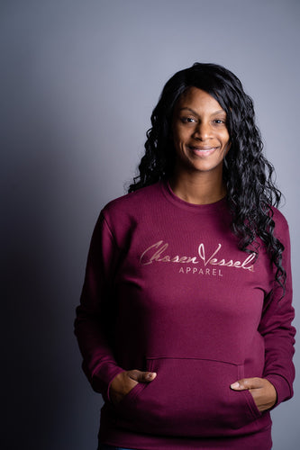Signature Gold Label Sweater (Maroon - He Rose)