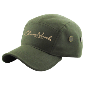 Chosen Vessels Signature Soldier Hat (Olive & Creme)