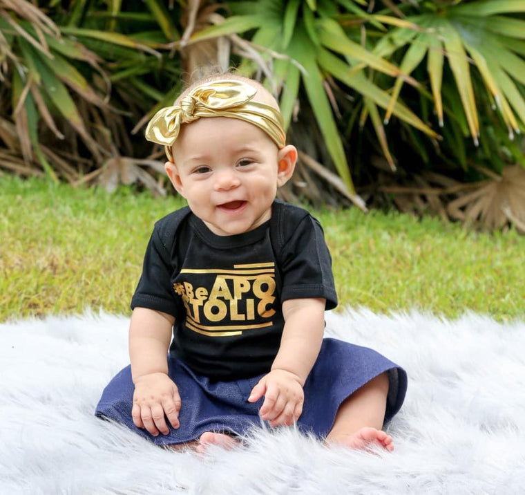 Be Apostolic Onesie (Black and Gold)