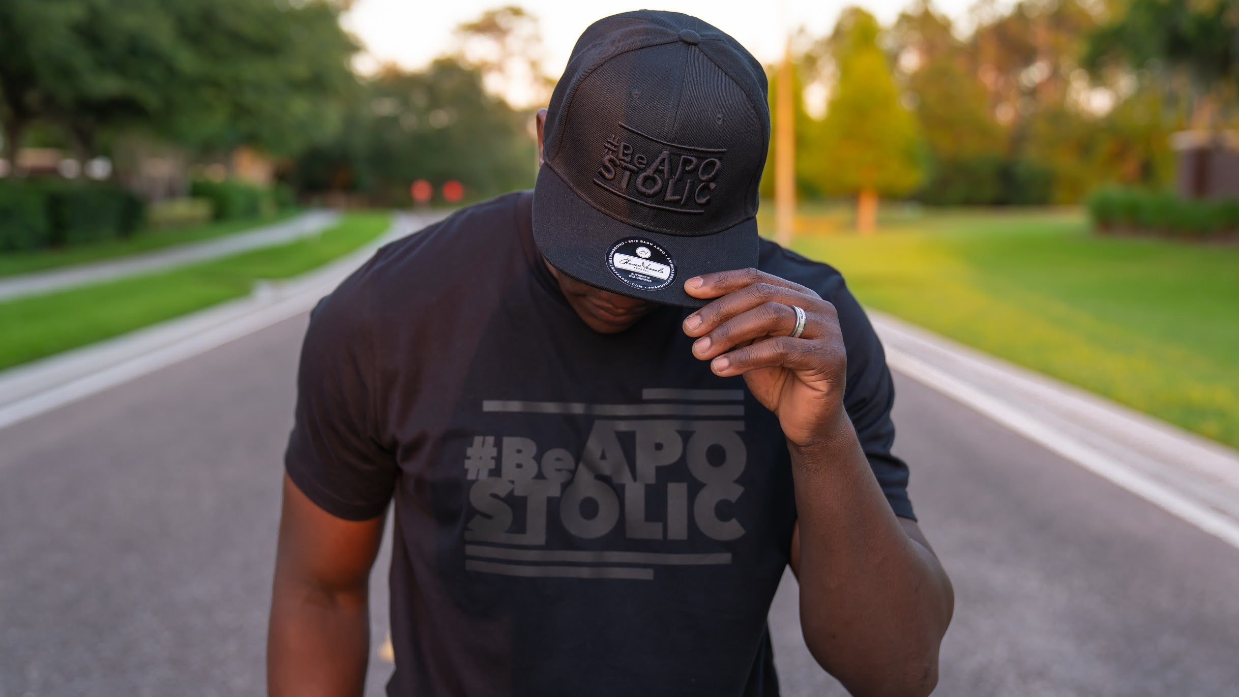 Be Apostolic Black on Black (Crown) Snapback