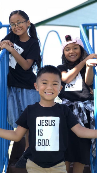 Jesus is God  (Kids) Black and White
