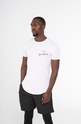 Long Line White T-Shirt