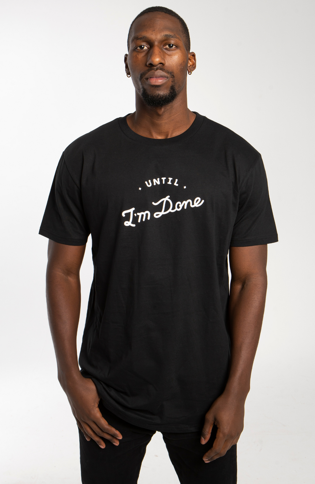 Long Line Black T-shirt