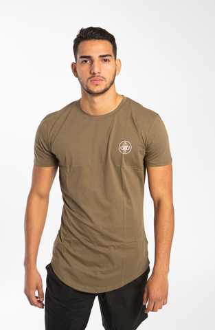 Long Line Army T-shirt