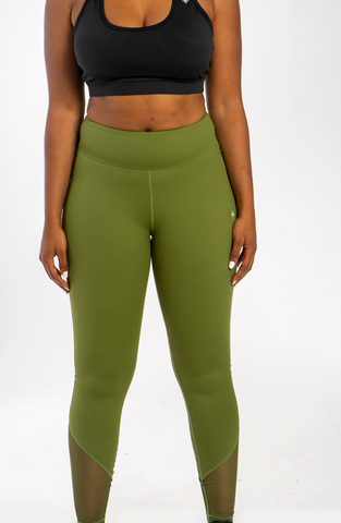 Height-Waist Khaki Leggings