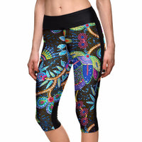 Boho Tree Capri Leggings