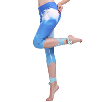 Sky Blue Cloud Leggings