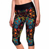Mysterious Cat Capri Leggings