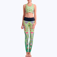 Green Om Yoga Set