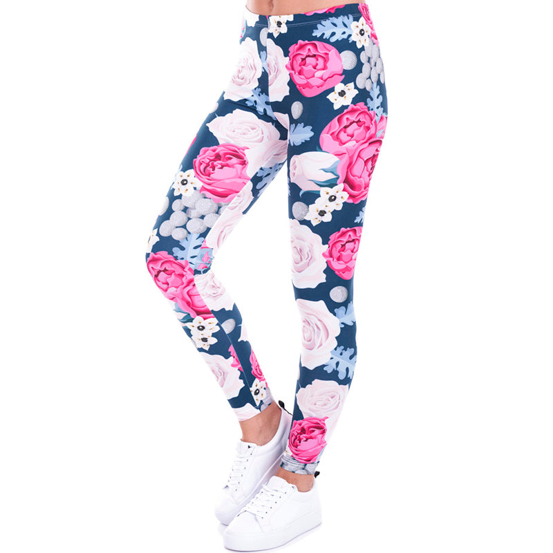 Sea Roses Leggings