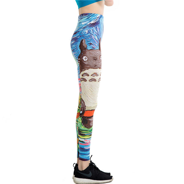 Van Gogh Graffiti Leggings