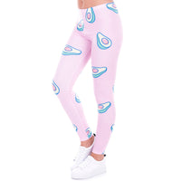 Pink Avocado Leggings