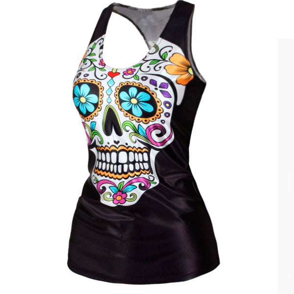 Cheerful Skull Tank Top
