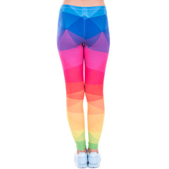 Colourful Cubism Leggings