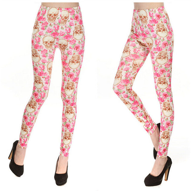 Rose Skull Legging