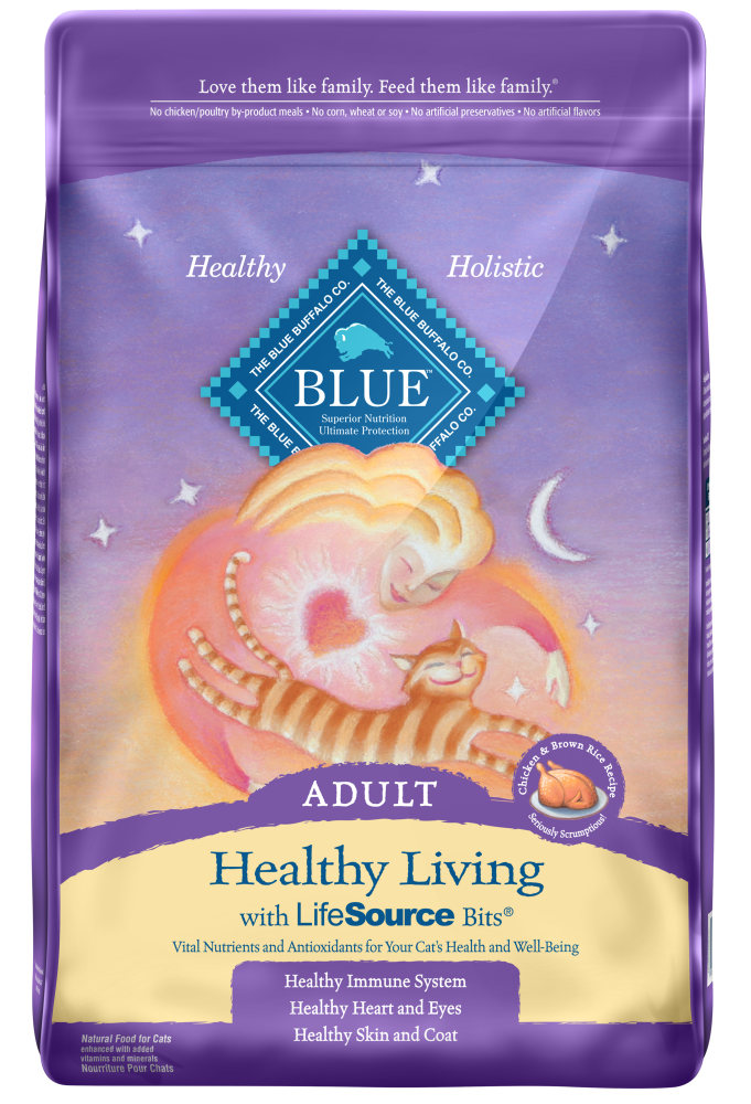 Blue Buffalo Healthy Living Adult Chicken and Brown Rice Recipe Dry Cat Food