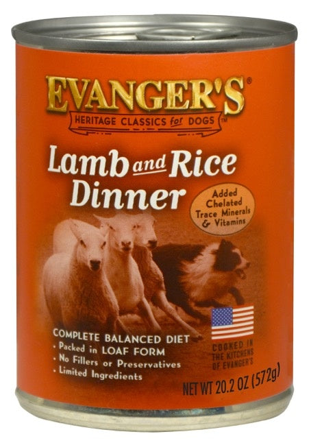 Evangers Classic Lamb and Rice Dinner Canned Dog Food
