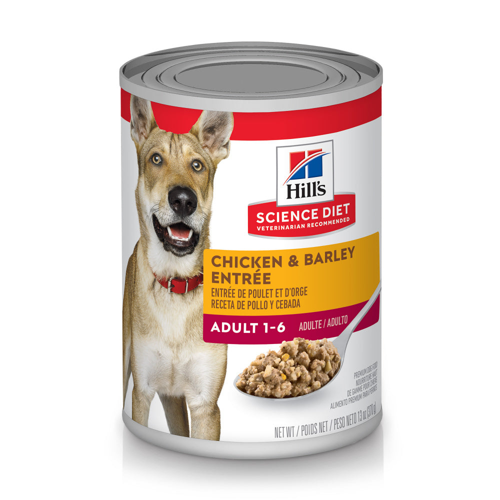Hill's Science Diet Adult Gourmet Chicken & Barley  Entree Canned Dog Food