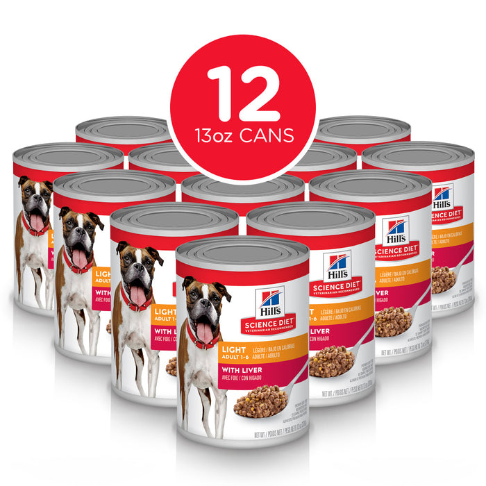 Hill's Science Diet Adult Light Liver Recipe Canned Dog Food