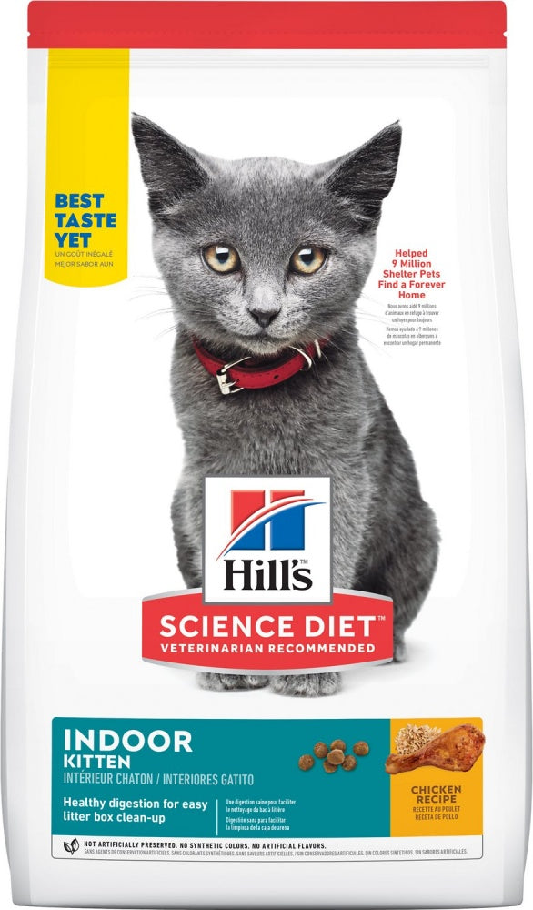 Hill's Science Diet Kitten Indoor Chicken Recipe Dry Cat Food