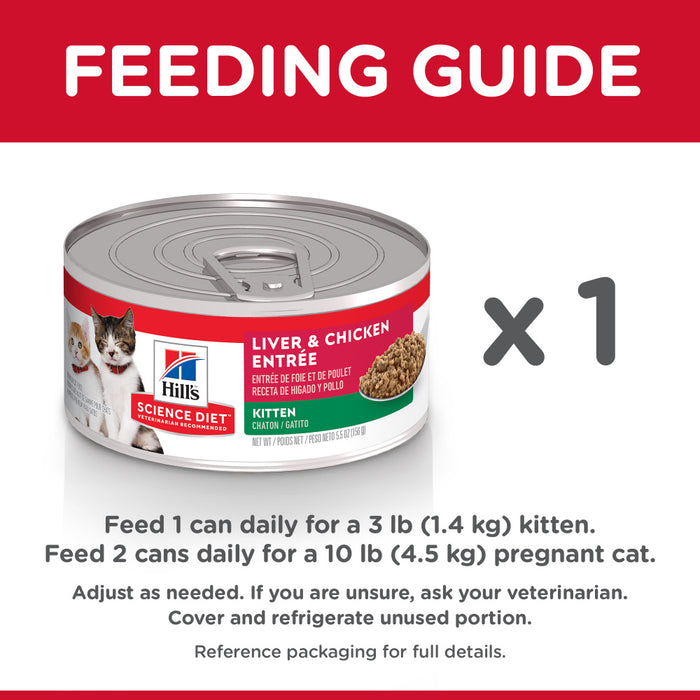 Hill's Science Diet Kitten Liver & Chicken Entree Canned Cat Food