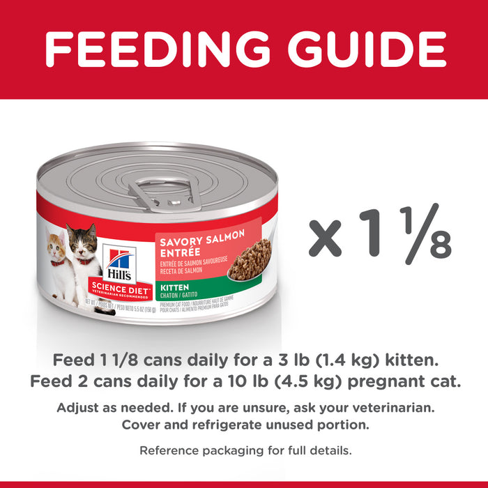 Hill's Science Diet Savory Salmon Entree Canned Kitten Food