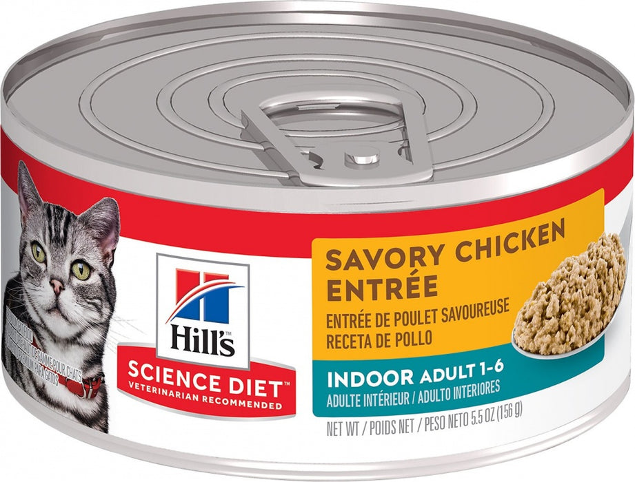 Hill's Science Diet Adult Indoor Savory Chicken Entree Canned Cat Food