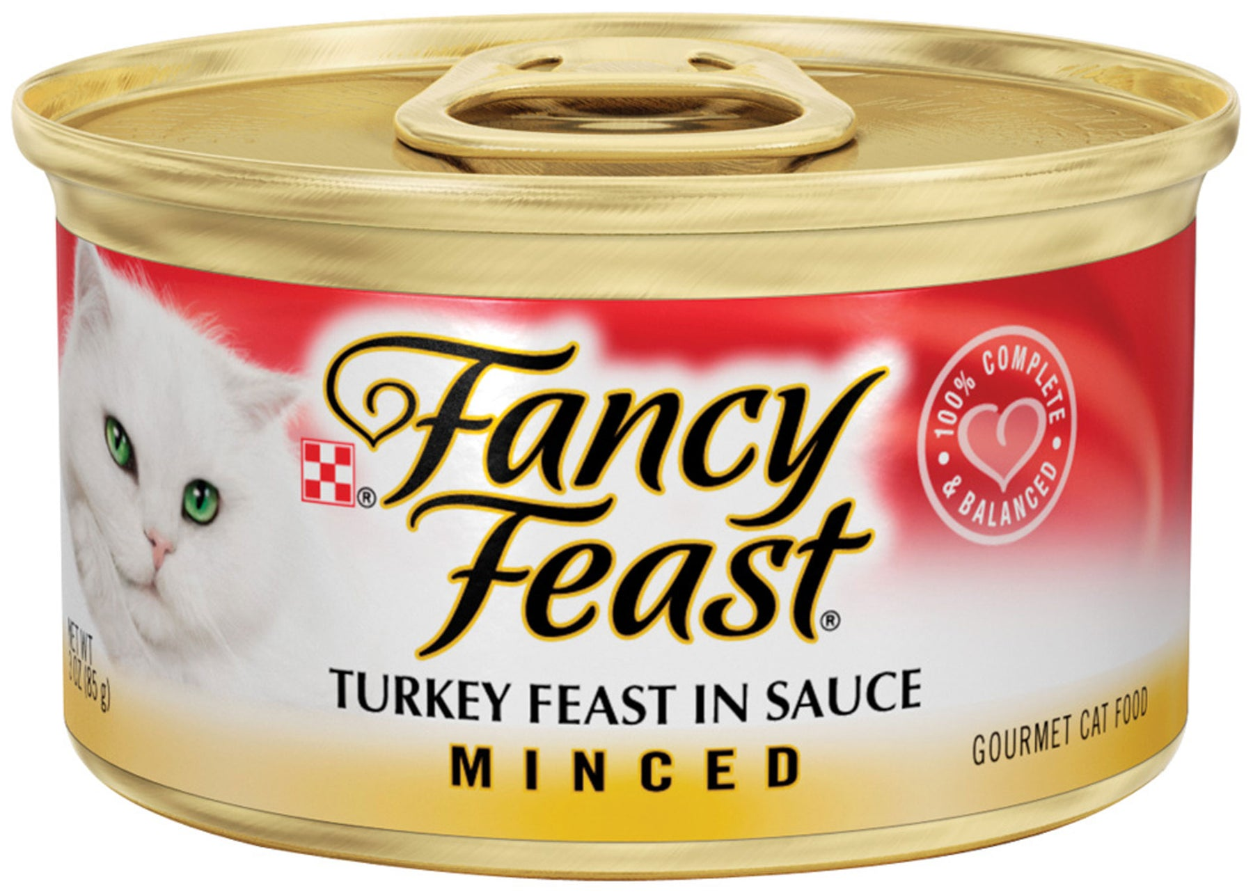 Fancy Feast Minced Turkey Feast in Sauce Canned Cat Food