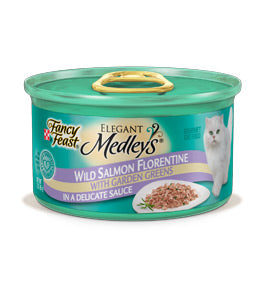 Fancy Feast Elegant Medleys Salmon Florentine Canned Cat Food