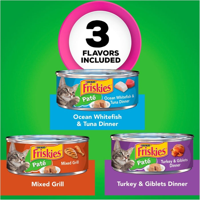 Friskies Classic Pate Variety Pack Canned Cat Food