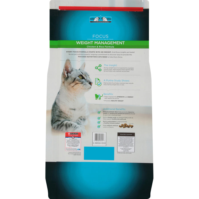 Purina Pro Plan Focus Weight Management Chicken & Rice Formula Dry Cat Food