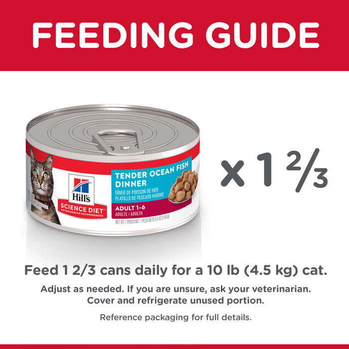 Hill's Science Diet Adult Tender Ocean Fish Dinner Canned Cat Food