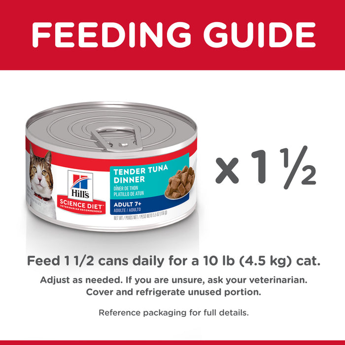 Hill's Science Diet Adult 7+ Tender Tuna Dinner Canned Cat Food