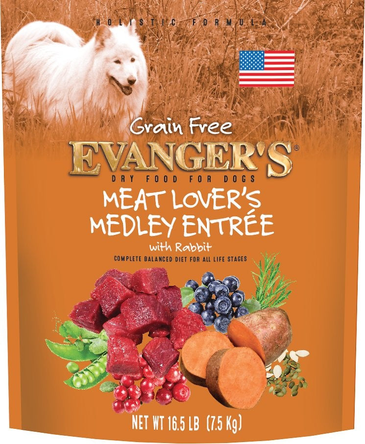 Evangers Grain Free Meat Lover's Medley with Rabbit Dry Dog Food