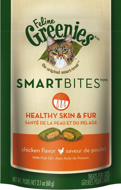 Greenies Smartbites Skin and Fur Chicken Cat Treats