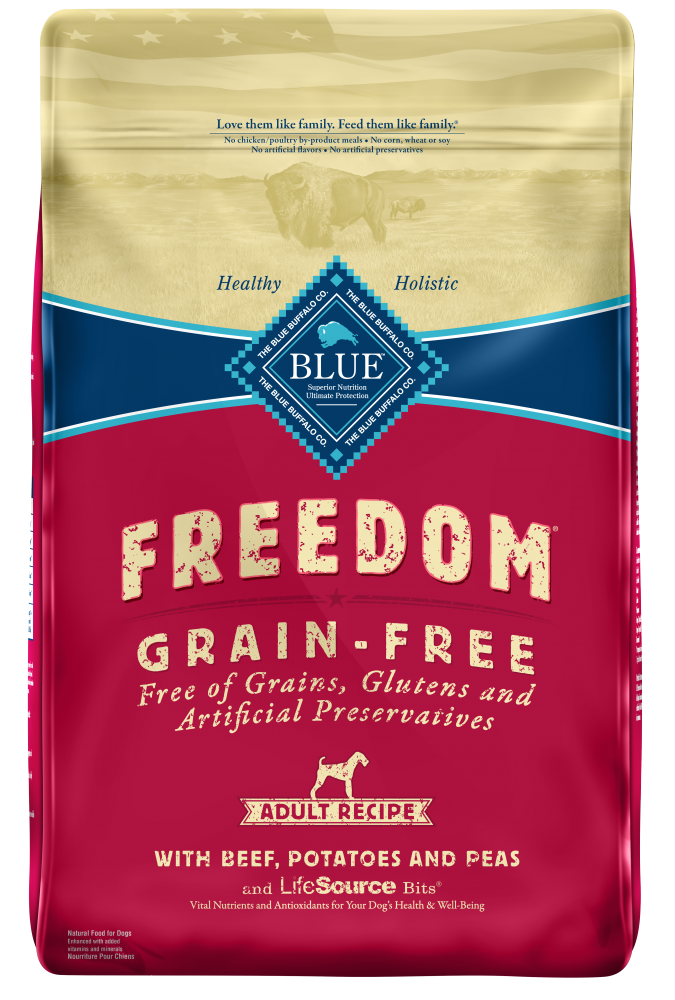 Blue Buffalo Freedom Grain-Free Adult Beef Recipe Dry Dog Food