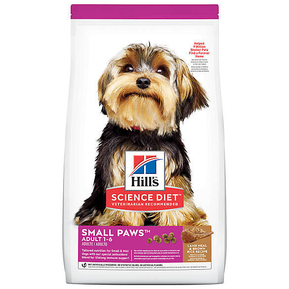 Hill's Science Diet Adult Small Paws Lamb Meal & Brown Rice Recipe  Dry Dog Food