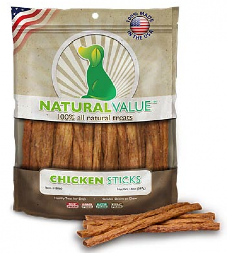 Loving Pets Natural Value Chicken Sticks Dog Treats