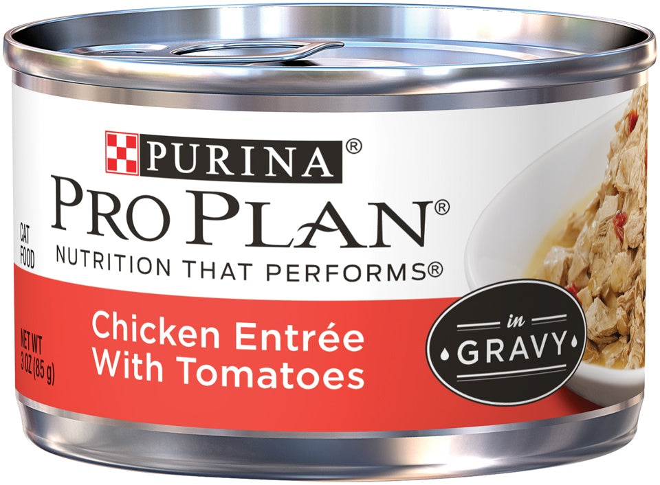 Purina Pro Plan Savor Adult Chicken Entree with Tomatoes Braised in Gravy Canned Cat Food