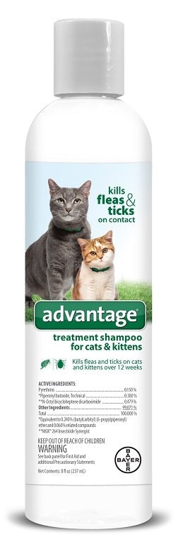 Bayer Advantage Treatment Shampoo for Cats and Kittens