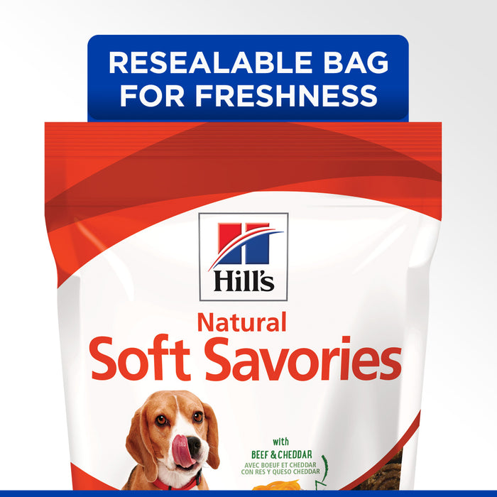 Hill's Science Diet Soft Savories Beef & Cheddar Dog Treats
