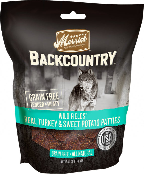 Merrick Backcountry Wild Prairie Grain Free Real Turkey and Sweet Potato Pattie Dog Treats
