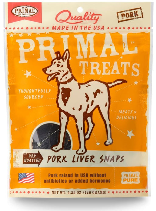 Primal Dry-Roasted Pork Liver Snaps Dog Treats