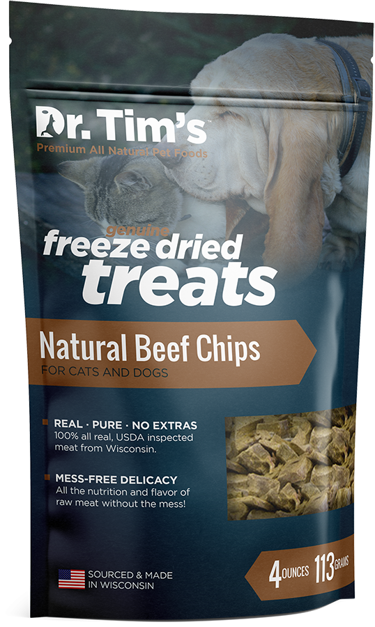 Dr. Tim's Freeze Dried Natural Beef Chips Dog and Cat Treats
