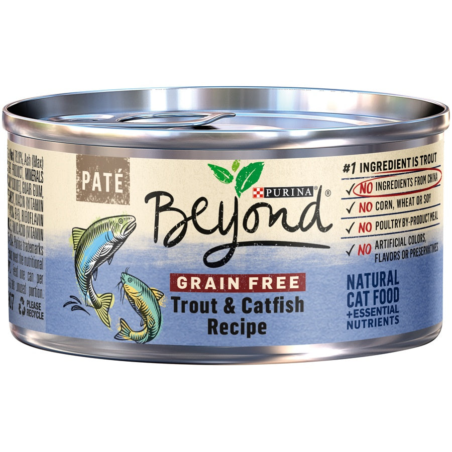 Purina Beyond Grain-Free Trout & Catfish Pate Recipe Canned Cat Food