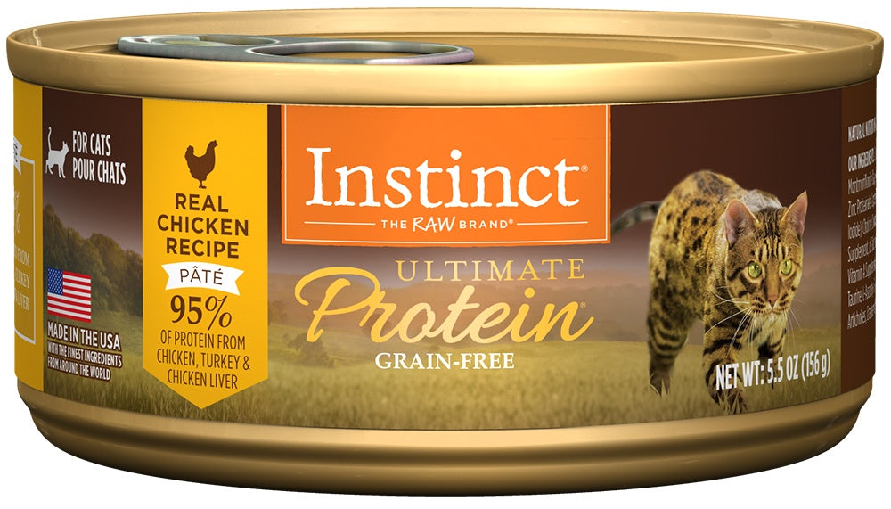 Nature's Variety Instinct Ultimate Protein Grain Free Chicken Formula Canned Cat Food