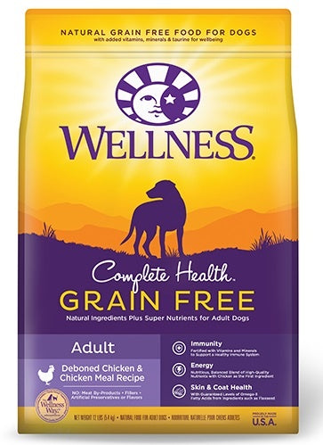 Wellness Complete Health Natural Adult Grain Free Deboned Chicken and Chicken Meal Recipe Dry Dog Food