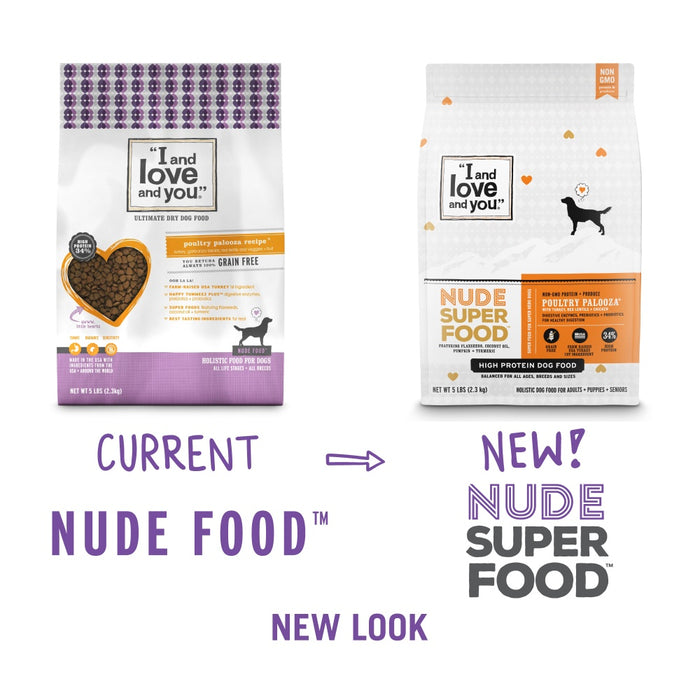 I and Love and You Grain Free Nude Super Food Poultry Palooza Dry Dog Food